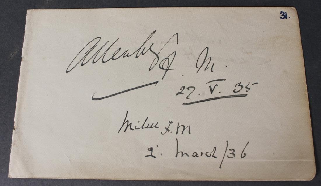 26 signed items, mostly WWI British generals.