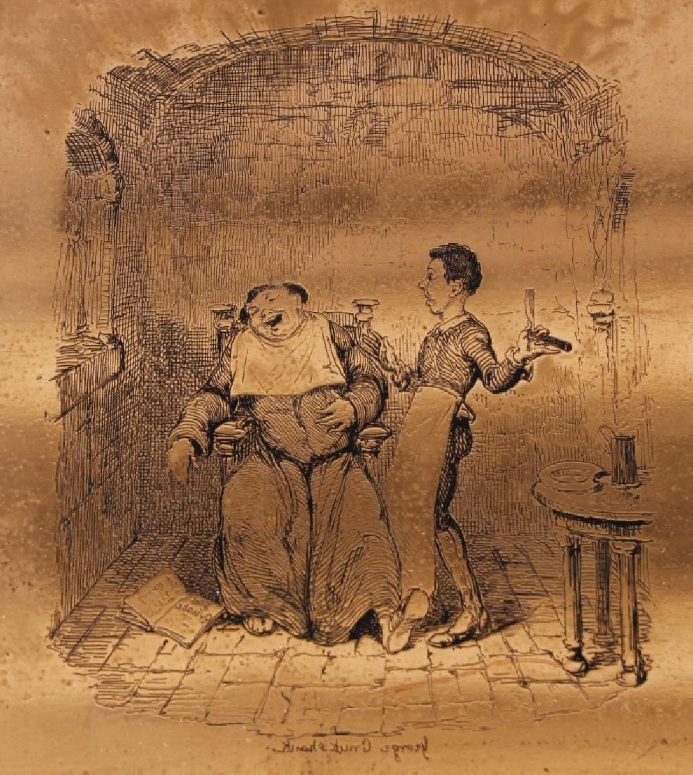 G. Cruikshank engr. copper plate - 1837