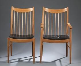 Arne Vodder Mid Century Modern 6 Dining Chairs.