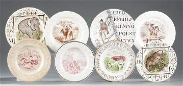 English transferprinted ceramic childrens plates