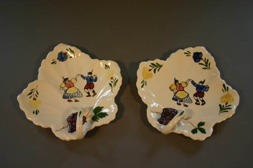 5518: Pair of Blue Ridge Southern Potteries ahnd pai