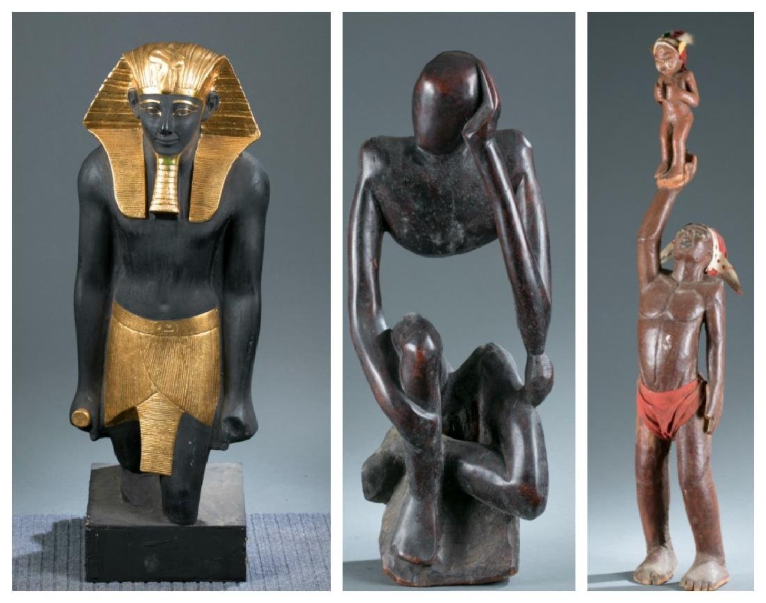 3 contemporary African figures. 20th century.