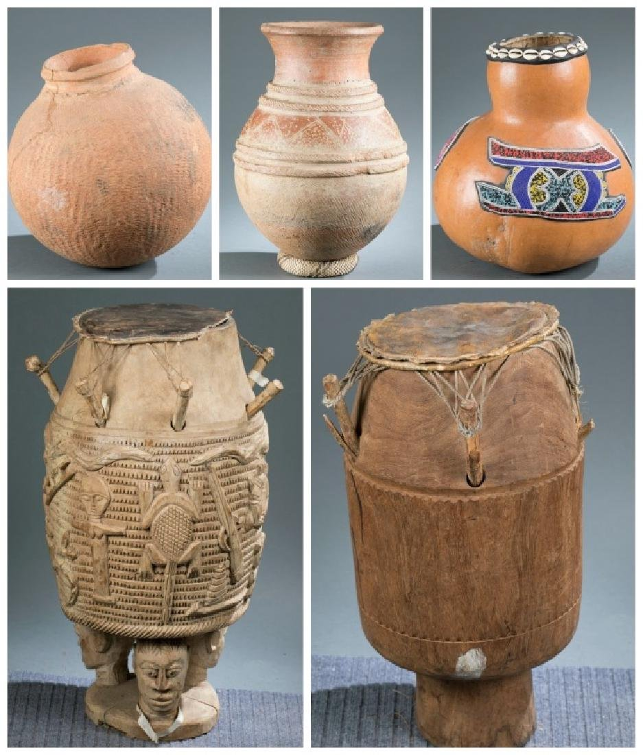 5 African objects.