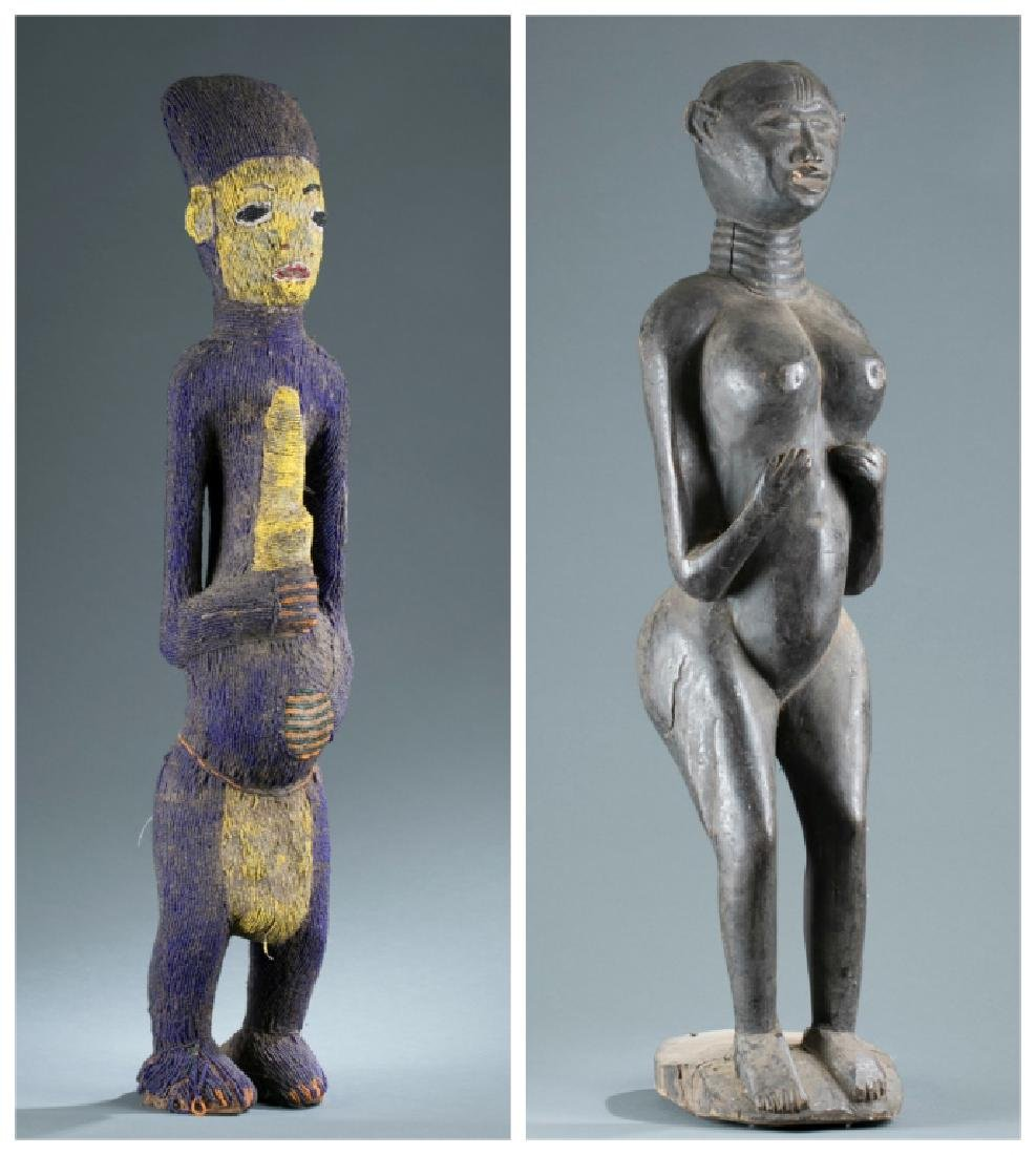 2 West African style figures. 20th century.
