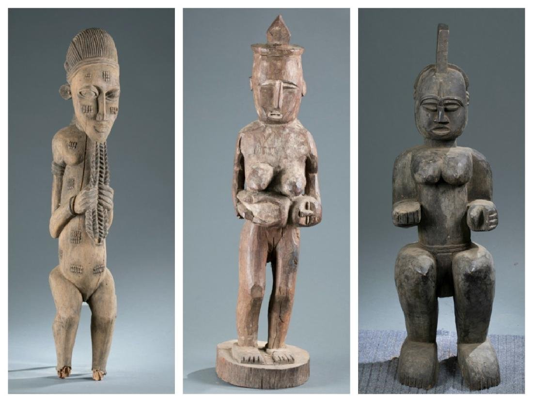 3 West African style figures. 20th century.