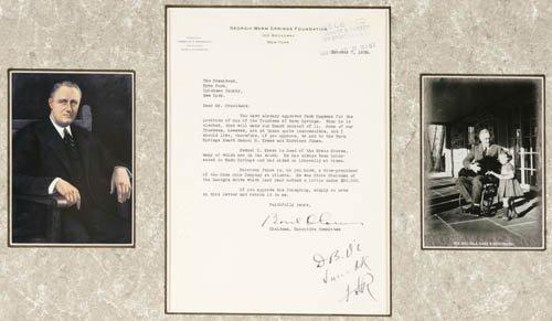 2255: [PRESIDENT]. Franklin D. Roosevelt. TLS by Ba