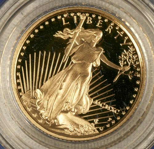 3510: American eagle $5 gold coin proof, 1990.