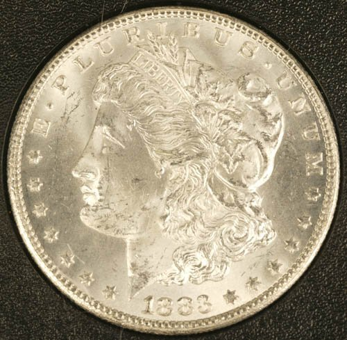 3521: CC uncirculated dollar, 1883.