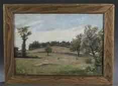 Max Weyl Summer Landscape Painting.