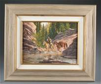 Mark Ogle painting of hunter.