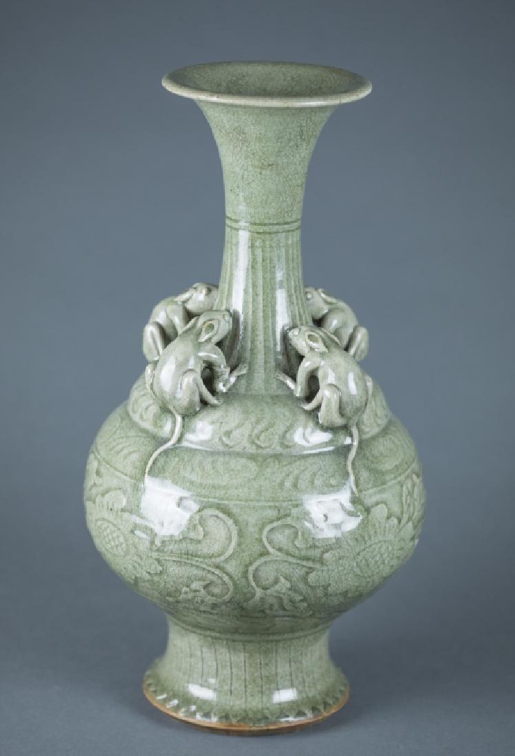Chinese celadon porcelain vase.