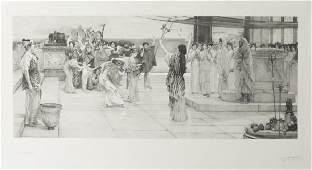 A. Blanchard, Dedication to Bacchus, after Tadema