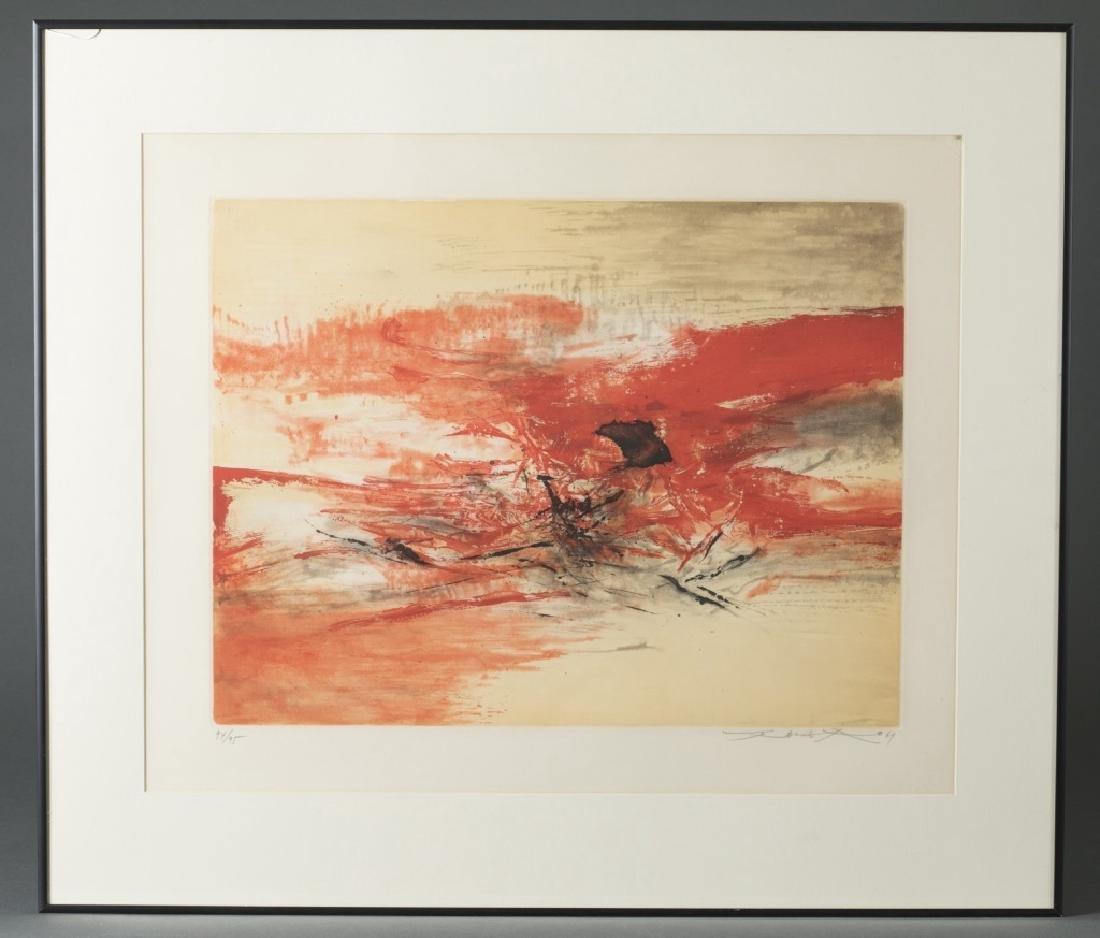 Zao Wou-Ki, Untitled Abstract, Engraving 1969