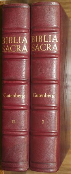 1004: Gutenberg Bible facsimile, 1961, one of 1000
