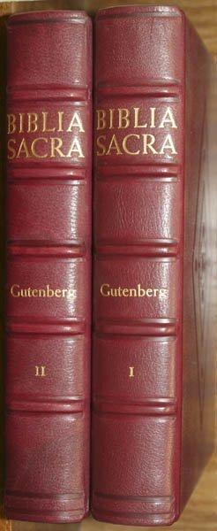 1004: Gutenberg Bible facsimile, 1961, one of 1000