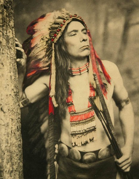 9: Alfred S. Campbell. Hand-colored photo Native Amer