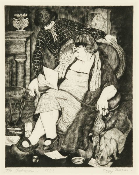 13: Bacon, Peggy. The Patroness. Drypoint. 1927.