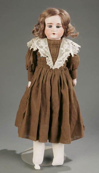 816: German bisque shoulder head doll marked Ruth