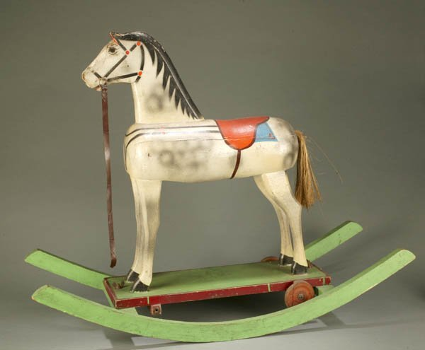 890: Early 20th century painted rocking horse
