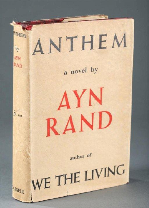 Ayn Rand ANTHEM  Cassell, (1938) 1st edition in dj