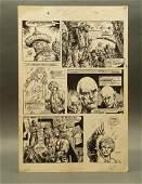 John Buscema original comic art / story board, 1976