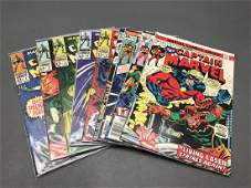 9 issues of Captain Marvel comic books 19681977