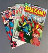 4 issues of Shazam comic books, 1973-1978.