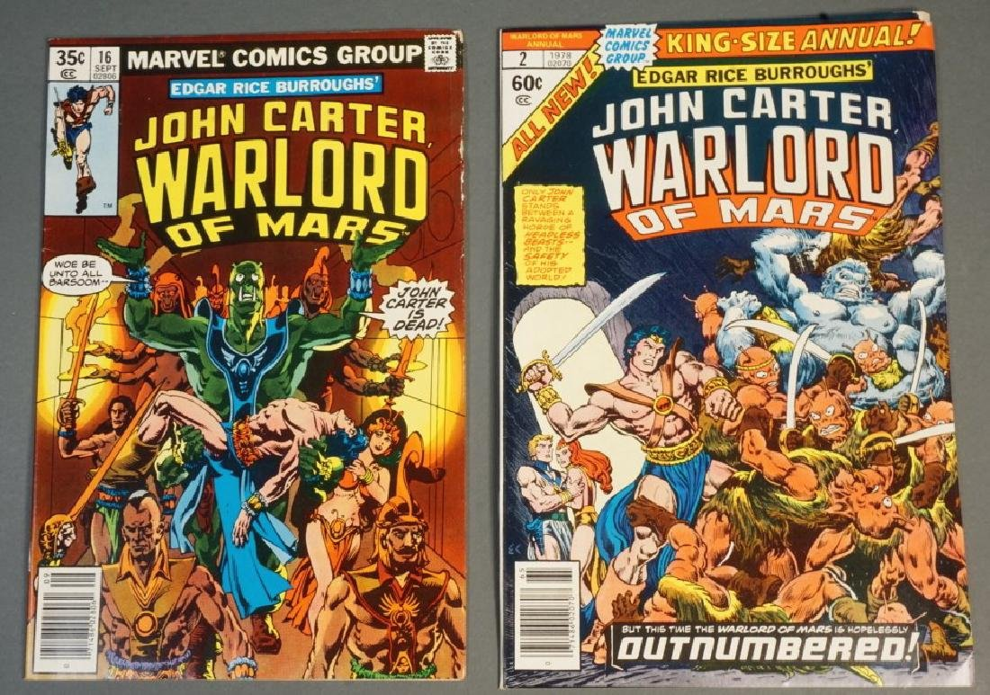 20 issues of John Carter Warlord of Mars, 1978-197