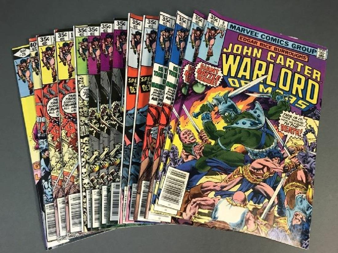 14 issues of John Carter Warlord of Mars. c.1977