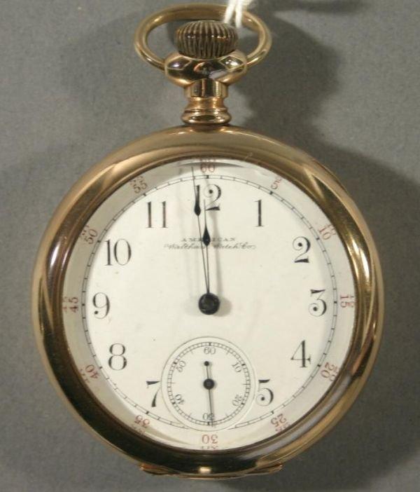 """003: An American Waltham Watch Co. """"Royal"""" size 16 rail"""