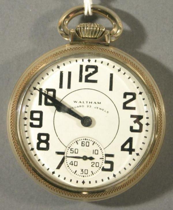 "004: An American Waltham Watch Co. ""Vanguard"" size 16 r"