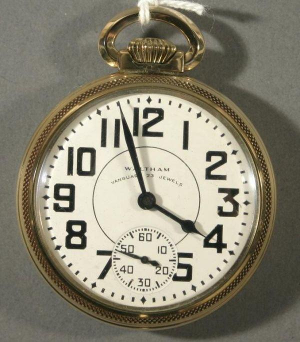 "005: An American Waltham Watch Co. ""Vanguard"" size 16 R"