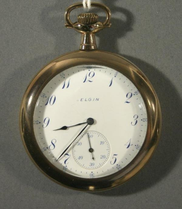 008: An Elgin Watch Co. size 12 pocket watch