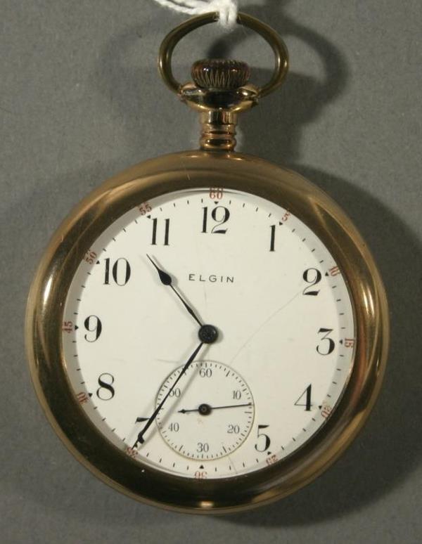 010: An Elgin Watch Co. Model 7, size 12 pocket watch