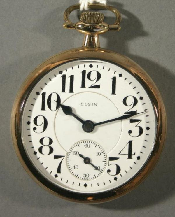 """018: An Elgin Watch Co. """"Father Time"""" size 16 Railroad"""