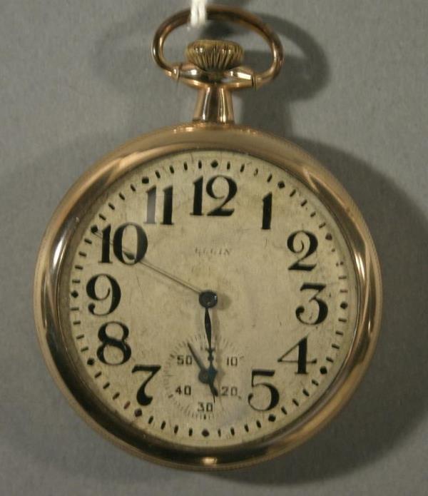019: An Elgin Watch Co. Model 7, size 16 pocket watch