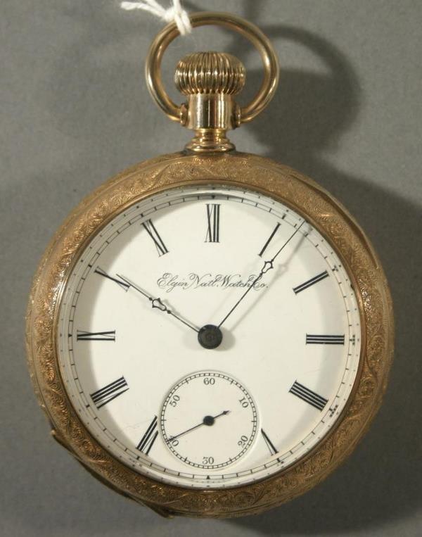 "024: An Elgin Watch Co. ""H. H. Taylor"" model size 18 po"