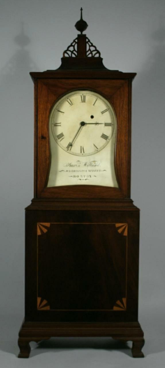 125: A Massachusetts Federal mahogany shelf clock by Aa
