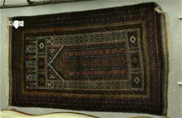 161: An Afghan Baluchi old prayer rug