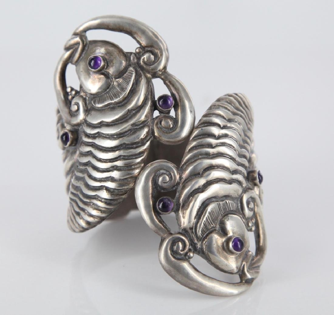 Margot de Taxco koi fish cuff bracelet.