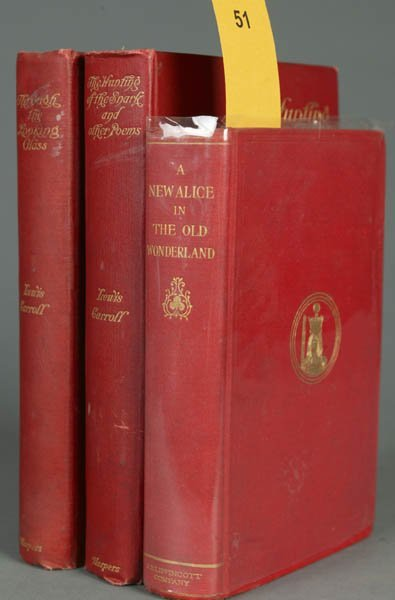 51: CARROLL, Lewis. 3 books (2 1st Am. eds.) 1895-1903