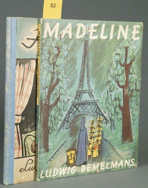 53: Ludwig Bemelmans. 2 books: Madeline, Hansi.