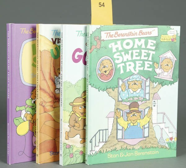 54: 4 ***SIGNED*** Berenstain Bears first editions.