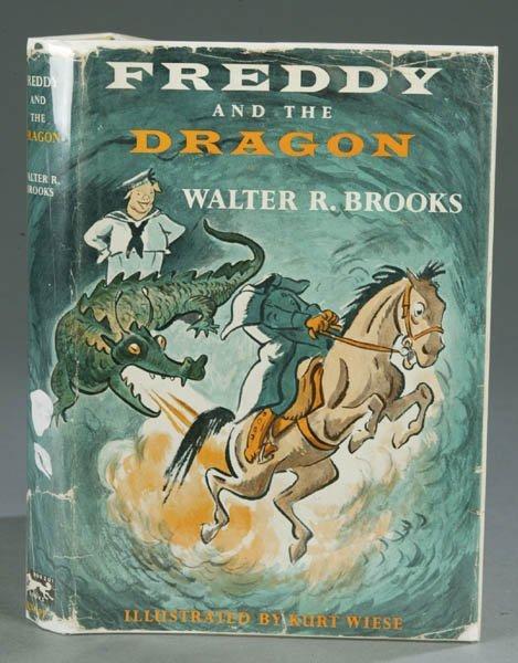 56: BROOKS. Freddy and the Dragon, (1958), 1st ed., dj