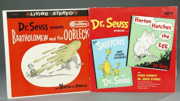 71: Dr. Seuss. 2 Albums: Oobleck/Yertle & Sneetches