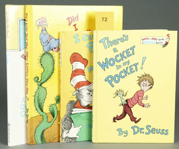 72: Dr. Seuss: 4 first editions.