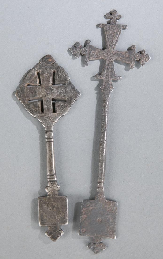2 Coptic style crosses. c.20th century.