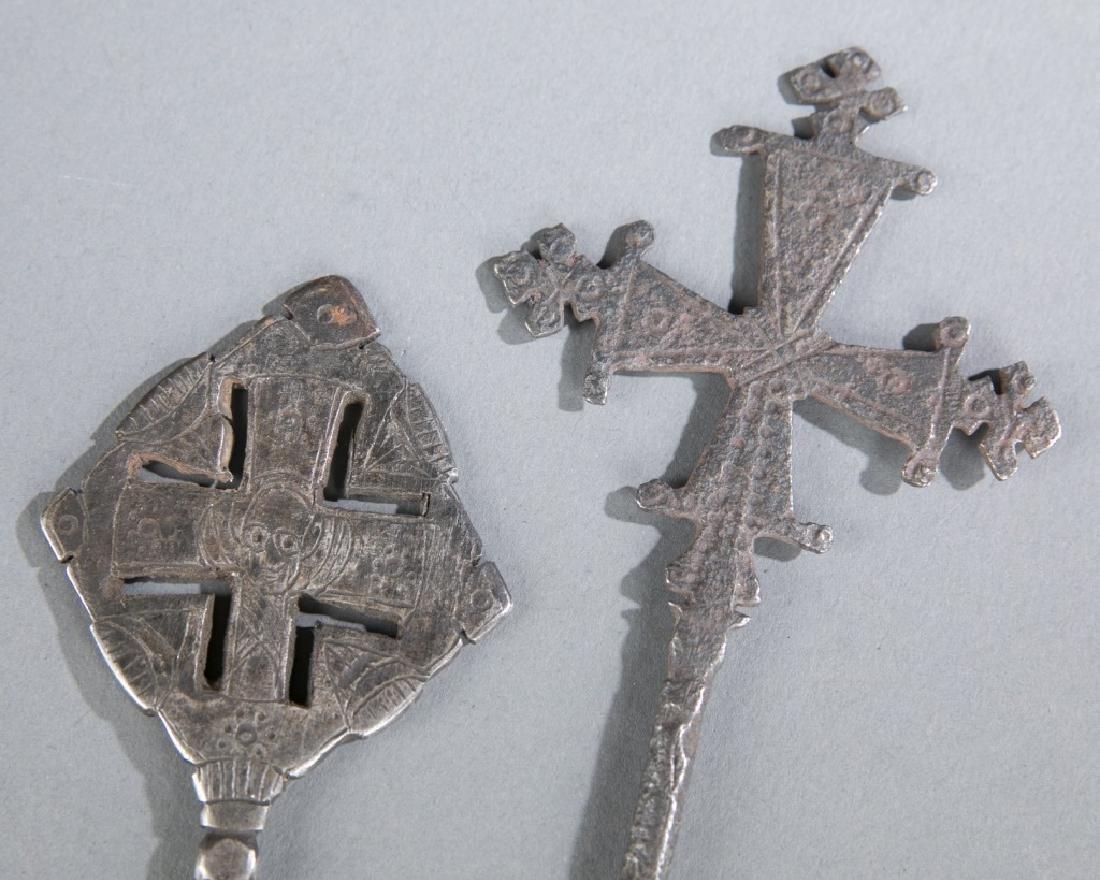 2 Coptic style crosses. c.20th century. - 2