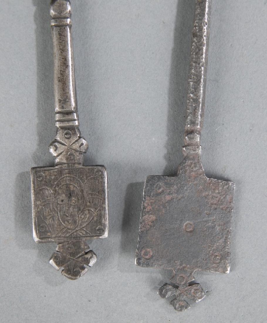 2 Coptic style crosses. c.20th century. - 3