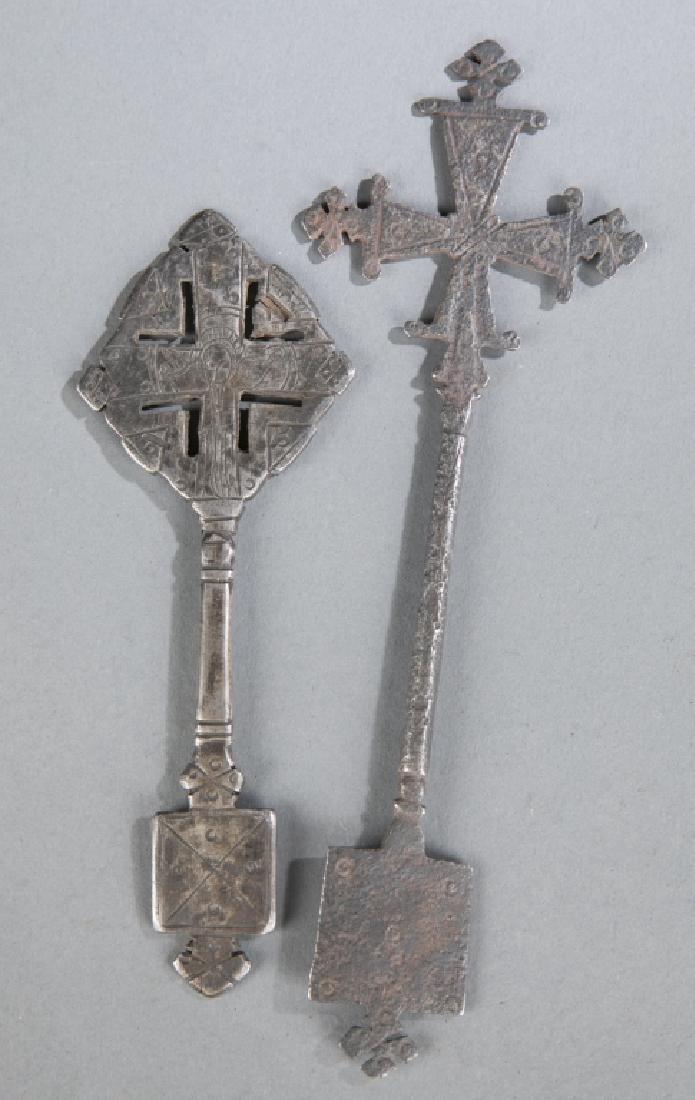 2 Coptic style crosses. c.20th century. - 4
